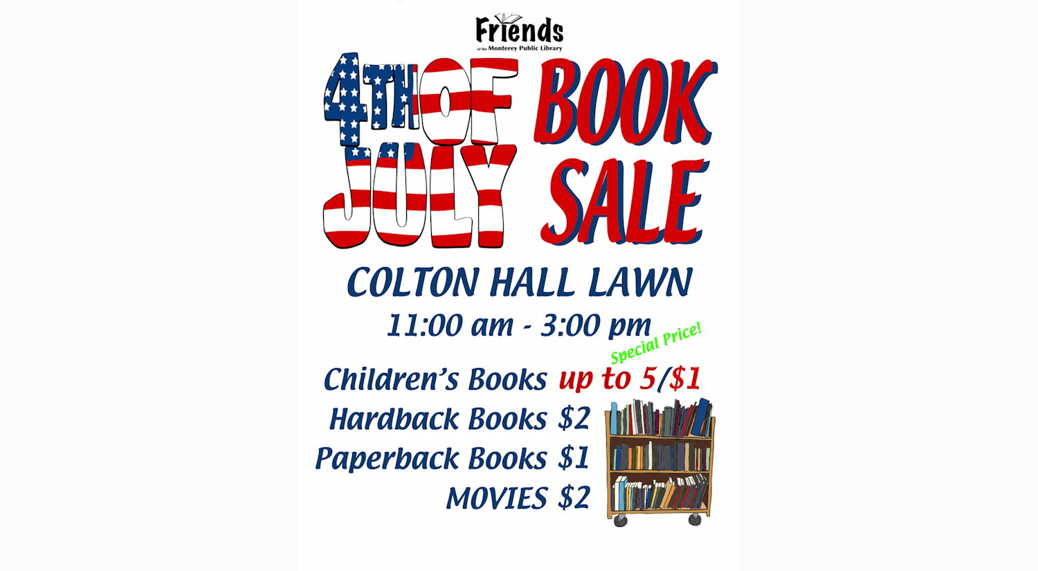 4th of July Book Sale